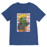 Royal Blue Anime PEPE MEME Naruto V-Neck T-Shirt