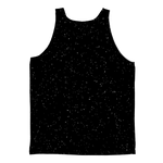 Black Space Astronaut Tank Top