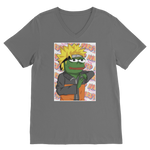 Dark Grey Anime PEPE MEME Naruto V-Neck T-Shirt