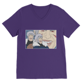 Purple Tobirama Senju Naruto V-Neck T-Shirt