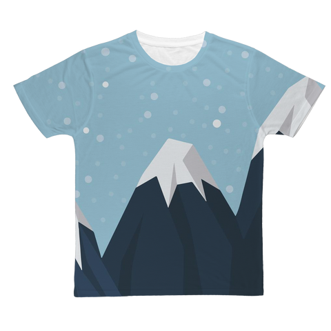 Snowing Mountains Nature T-Shirt
