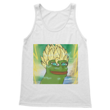 White Anime Super Saiyan PEPE MEME Dragon Ball Z Goku Tank Top