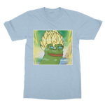 Light Blue Anime Super Saiyan PEPE MEME Dragon Ball Z Goku T-Shirt