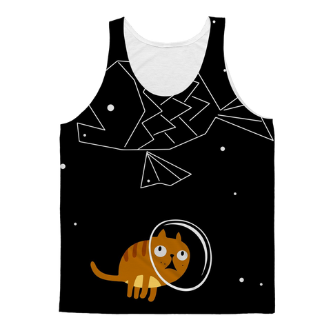 Space Astronaut Kitty Cat Tank Top