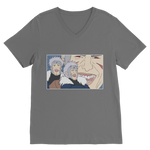 Dark Grey Tobirama Senju Naruto V-Neck T-Shirt