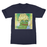 Navy Blue Anime Super Saiyan PEPE MEME Dragon Ball Z Goku T-Shirt