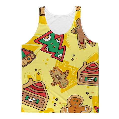 Gingerbread House & Gingerbread Man Tank Top