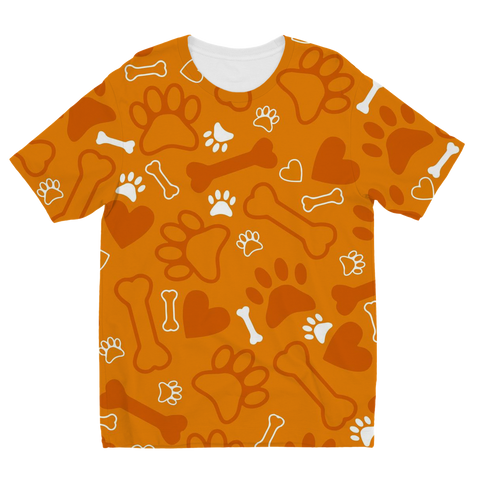 ae71d8a91563 Orange Dog Paw Print T-Shirts, Hip Hop Clothing, Urban Clothing ...