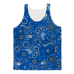 Light Blue Bandana Crip Tank Tops
