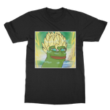 Black Anime Super Saiyan PEPE MEME Dragon Ball Z Goku T-Shirt