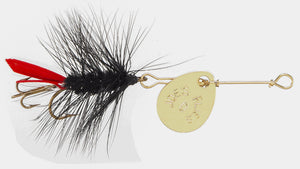 121 - Black Woolly Worm - Size #10