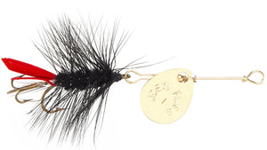 121 - Black Woolly Worm Size #8
