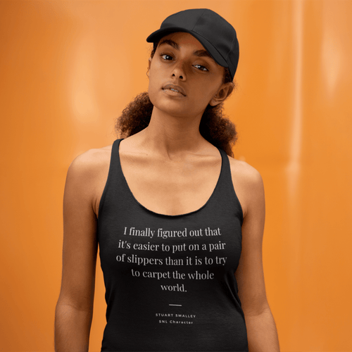 Figured It Out Racerback Tank - Stuart Smalley, SNL Character Quote - AskDrGanz.com