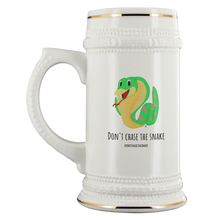 Load image into Gallery viewer, Don't Chase The Snake© - Beer Stein - askdrganz.com #AskDrGanz