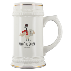 Feed The Goose© - Goose With Goose Beer Stein - askdrganz.com #AskDrGanz