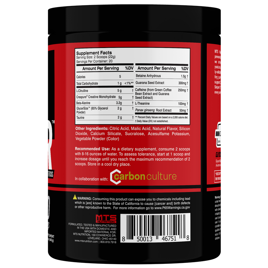 MTS Sniper™ Intense Preworkout Focus