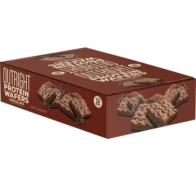 Outright Protein Wafer® Delicious High-Protein Treat (10 Pack Box of Bars)