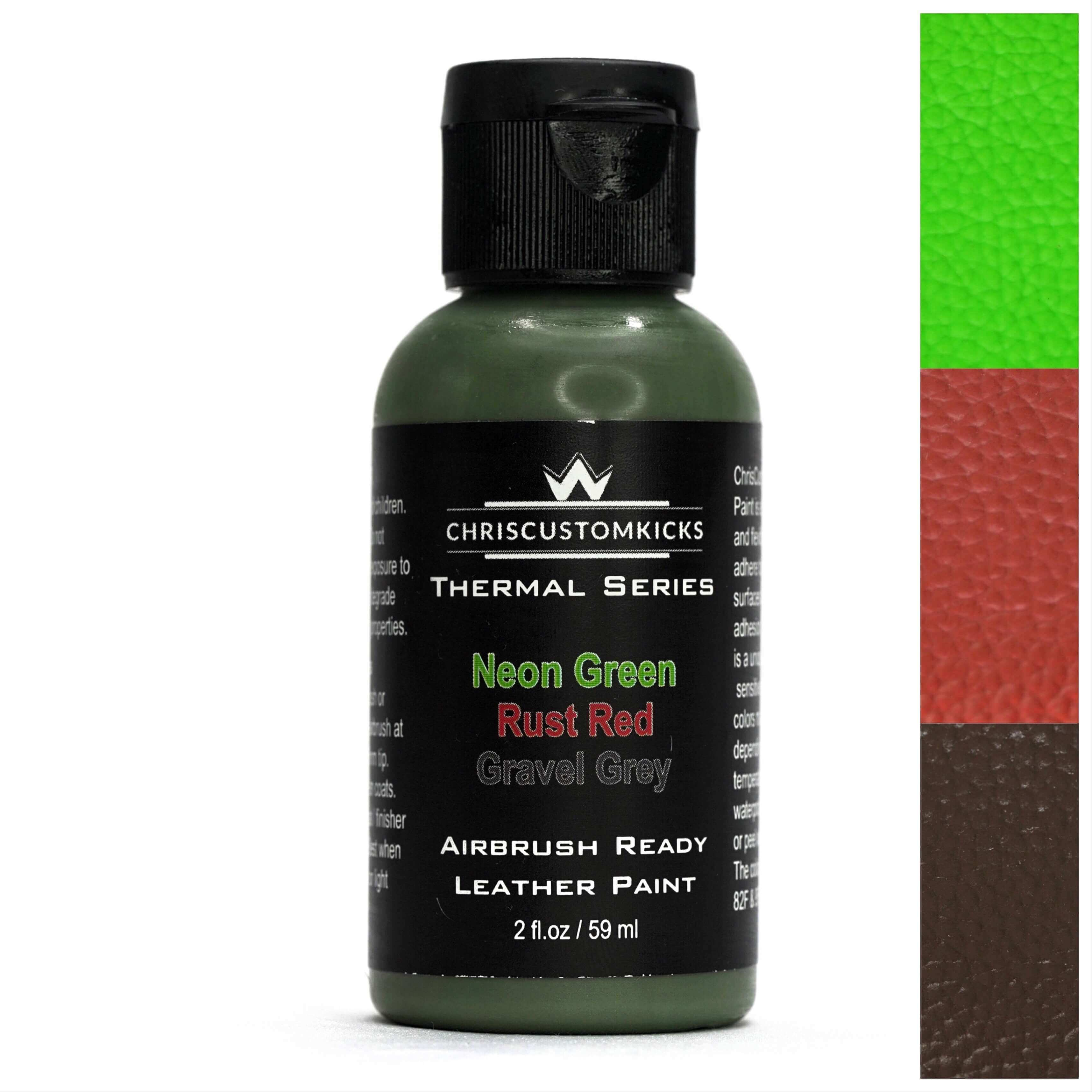 Triple Thermal Paint - Gravel Grey/Rust Red/Neon Green