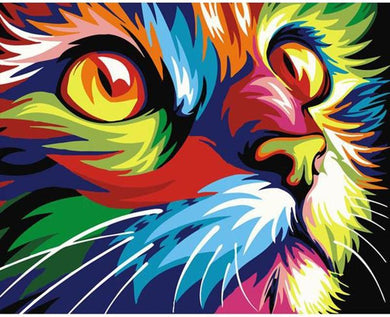 Abstract Colors Cat - Gopaintbynumbers