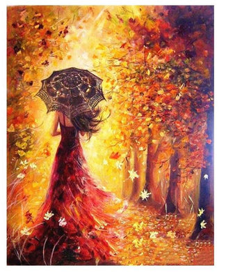 Woman in Autumn - Gopaintbynumbers