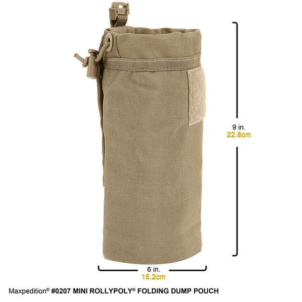 MINI ROLLY POLLY FOLDING POUCH - MAXPEDITION, Military, CCW, EDC, Everyday Carry, Outdoors, Nature, Hiking, Camping, Police Officer, EMT, Firefighter, Bushcraft, Gear, Travel