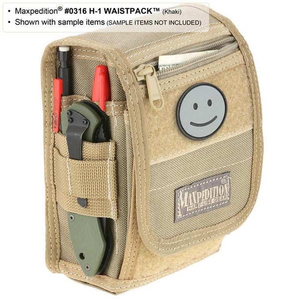 H-1 WAISTPACK - Maxpedition, Military, CCW, EDC, Tactical, Everyday Carry, Outdoors, Nature, Hiking, Camping, Police Officer, EMT, Firefighter, Bushcraft, Gear.