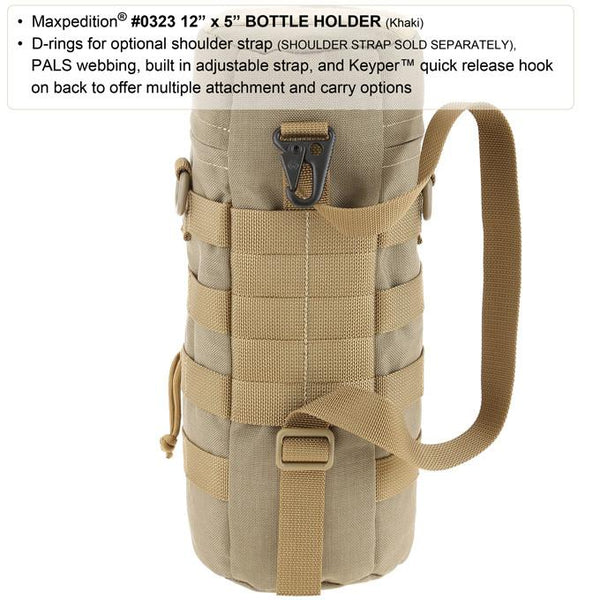 "Maxpedition 12"" x 5"" Bottle Holder, EDC, Hiking, Camping, Tactical, Outdoor essentials"