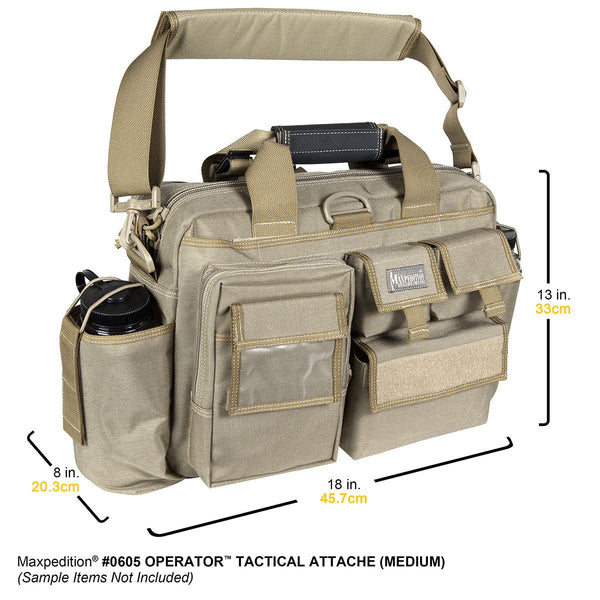 Operator Tactical Attache- Maxpedition, Bag, CCW, EDC,Tactical Gear, Outdoor, Hiking, Camping, Nature , Travel Gear, Every day, Range Bag, Officer