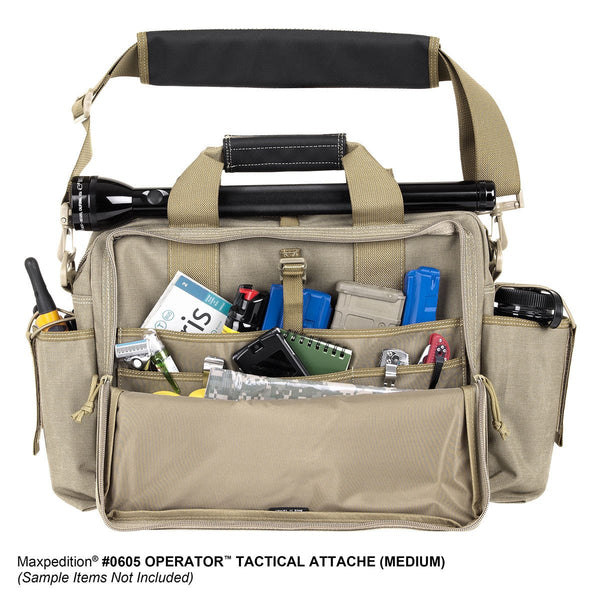 Operator Tactical Attache- Maxpedition, Range Bag, Military, CCW, EDC, Everyday Carry, Outdoors, Nature, Hiking, Camping, Police Officer, EMT, Firefighter, Bushcraft, Gear, Travel