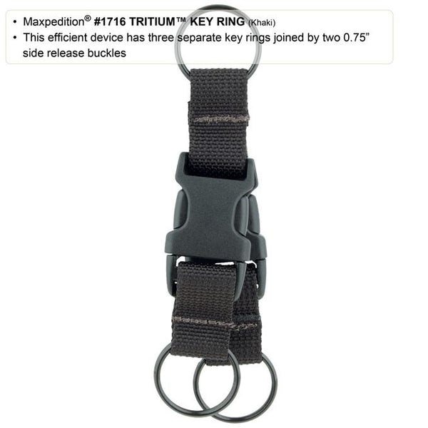 TRITIUM KEY RING, Maxpedition- Everyday Carry, EDC,Backpack, Tactical Gear, Law Enforcement, Police Gear, EMT, Everyday Carry,Tactical, Hiking, Camping, Outdoor, Essentials, Guns, Travel, Adventure