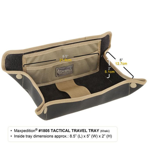 Maxpedition Tactical Travel Tray, Accessory, Toiletries, Organization, Travel, Boarding Pass, TSA- Friendly, Travel Holder, Valuables, EDC, Everyday Carry Holder