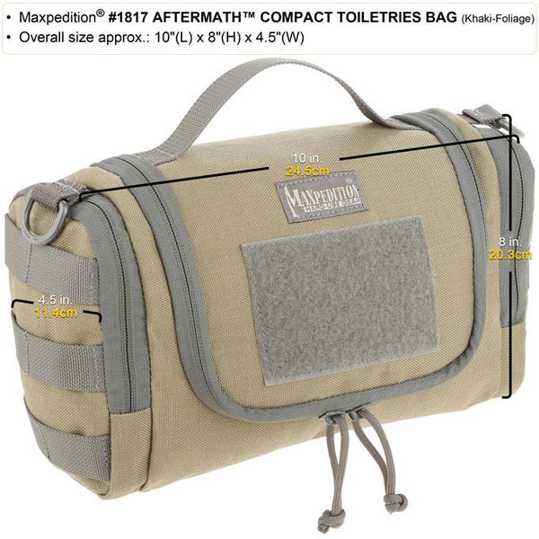 Maxpedition - Aftermath Compact Toiletries Bag, Travel, EDC, Hiking, Camping, Work