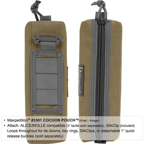 Maxpedition- Cocoon Pouch Maxpedition-Military, CCW, EDC, Tactical, Everyday Carry, Outdoors, Nature, Hiking, Camping, Police Officer, EMT, Firefighter,Bushcraft, Gear