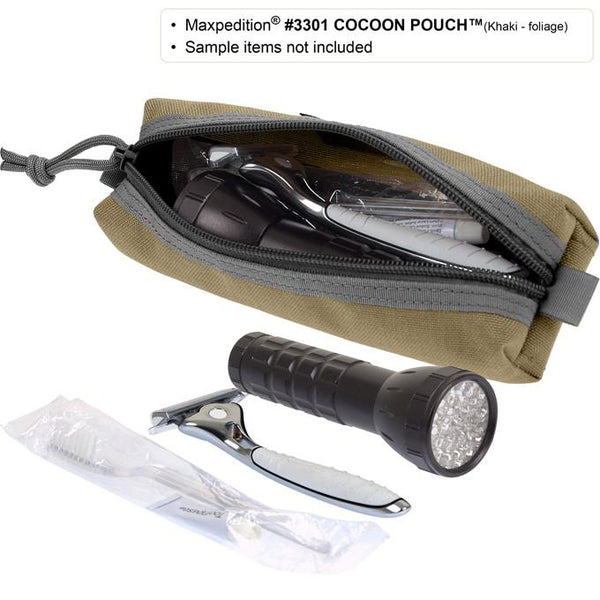 Maxpedition- Cocoon Pouch. Maxpedition-Military, CCW, EDC, Tactical, Everyday Carry, Outdoors, Nature, Hiking, Camping, Police Officer, EMT, Firefighter,Bushcraft, Gear