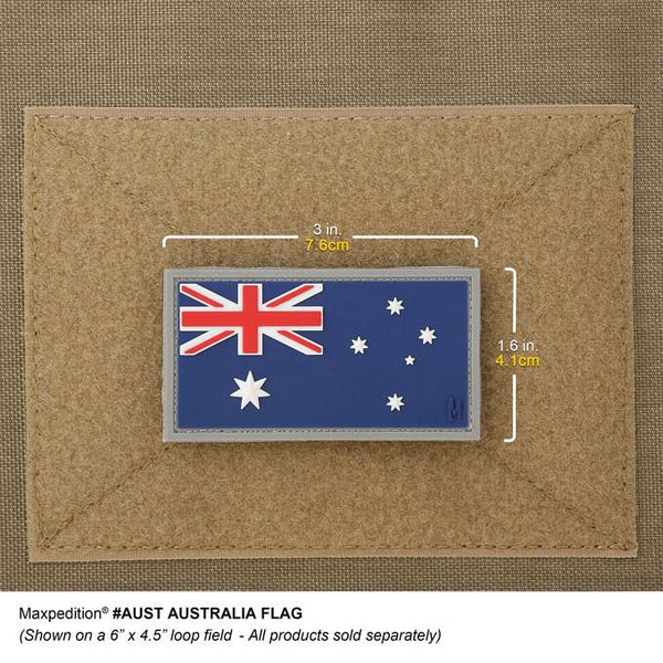 AUSTRALIA FLAG PATCH - MAXPEDITION, Patches, Military, CCW, EDC, Tactical, Everyday Carry, Outdoors, Nature, Hiking, Camping, Bushcraft, Gear, Police Gear, Law Enforcement
