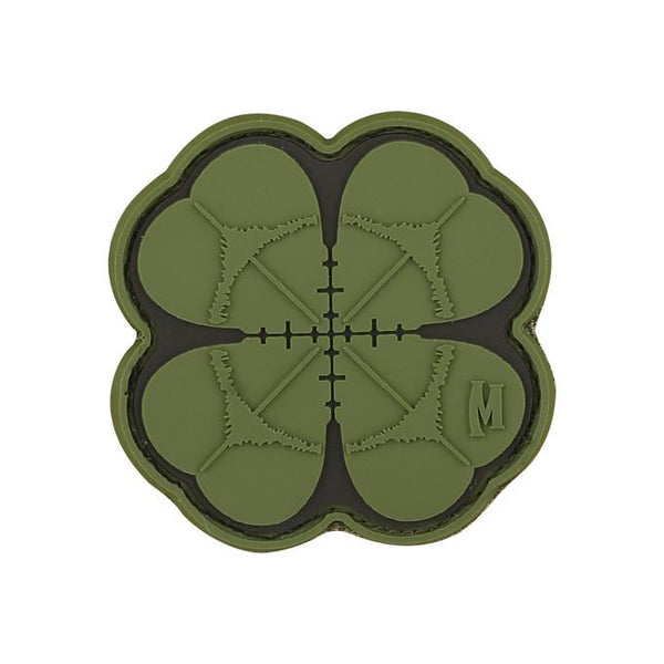 LUCKY SHOT CLOVER PATCH - MAXPEDITION, Patches, Military, CCW, EDC, Tactical, Everyday Carry, Outdoors, Nature, Hiking, Camping, Bushcraft, Gear, Police Gear, Law Enforcement