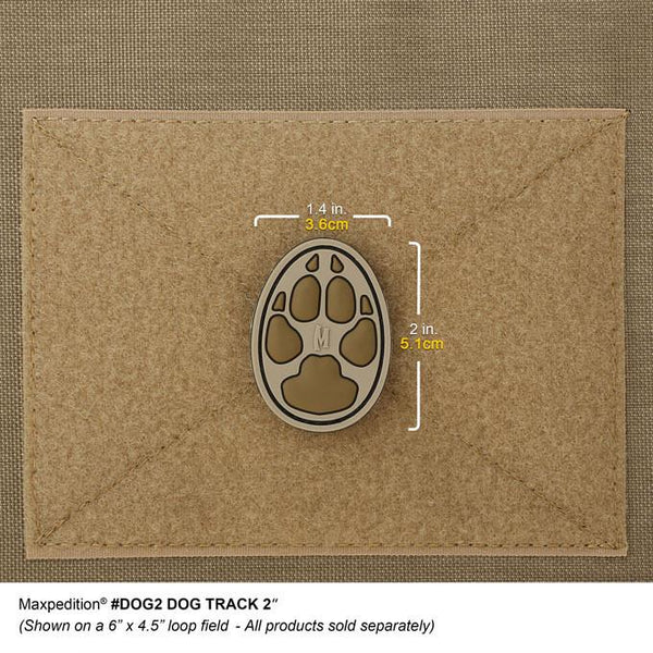 "DOG TRACK 2"" PATCH - MAXPEDITION, Patches, Military, CCW, EDC, Tactical, Everyday Carry, Outdoors, Nature, Hiking, Camping, Bushcraft, Gear, Police Gear, Law Enforcement"