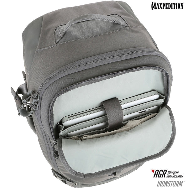 "Maxpedition's Adventure Travel Bag is equipped with a padded 15"" laptop compartment, and a tablet compartment."