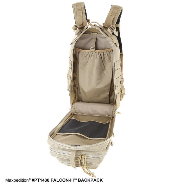 FALCON-III BACKPACK - MAXPEDITION, EDC Pack, Everyday Carry, Hiking, Camping, Outdoor, College, Adventure, Hunting, Range Gear
