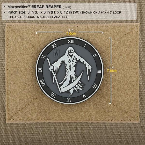 REAPER PATCH - MAXPEDITION, Patches, Military, CCW, EDC, Tactical, Everyday Carry, Outdoors, Nature, Hiking, Camping, Bushcraft, Gear, Police Gear, Law Enforcement