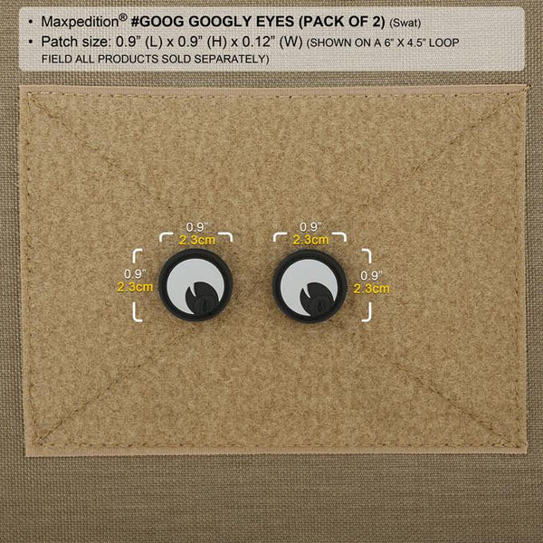 GOOGLY EYES PATCH - MAXPEDITION, Patches, Military, CCW, EDC, Tactical, Everyday Carry, Outdoors, Nature, Hiking, Camping, Bushcraft, Gear, Police Gear, Law Enforcement