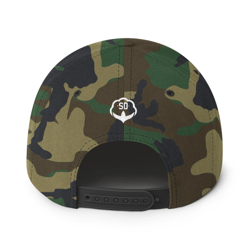 The Camo SD Snapback Hat