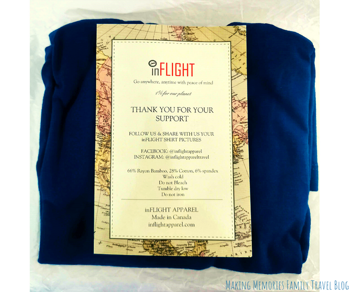 Travel Product Review: InFLIGHT Apparel travel T-Shirt