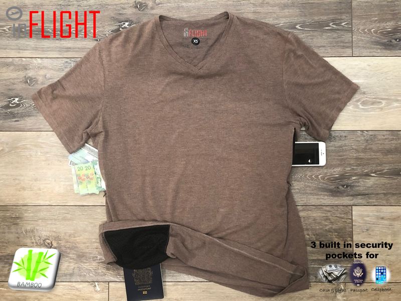 Travel with less and in security with inFLIGHT shirts!