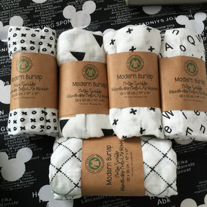 Soft Organic Bamboo Cotton Swaddle Blankets