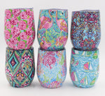 New! Summer Prints Double Wall Stainless Steel Tumbler