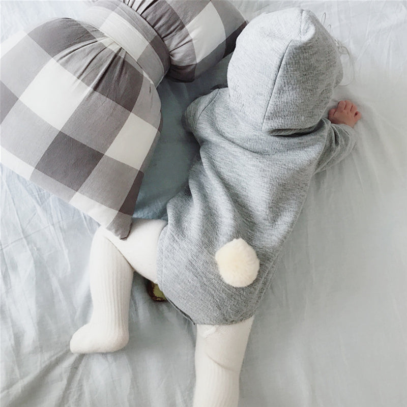 Soft Baby Hooded Bunny Ear Romper