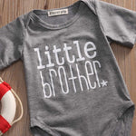 Matching Big Sister T-shirt & Little Brother Romper Outfit