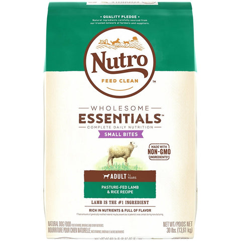 Nutro Wholesome Essentials Small Bites Adult Pasture-Fed Lamb & Rice Dry Dog Food