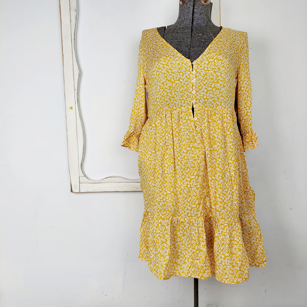 Floral Dress in Yellow